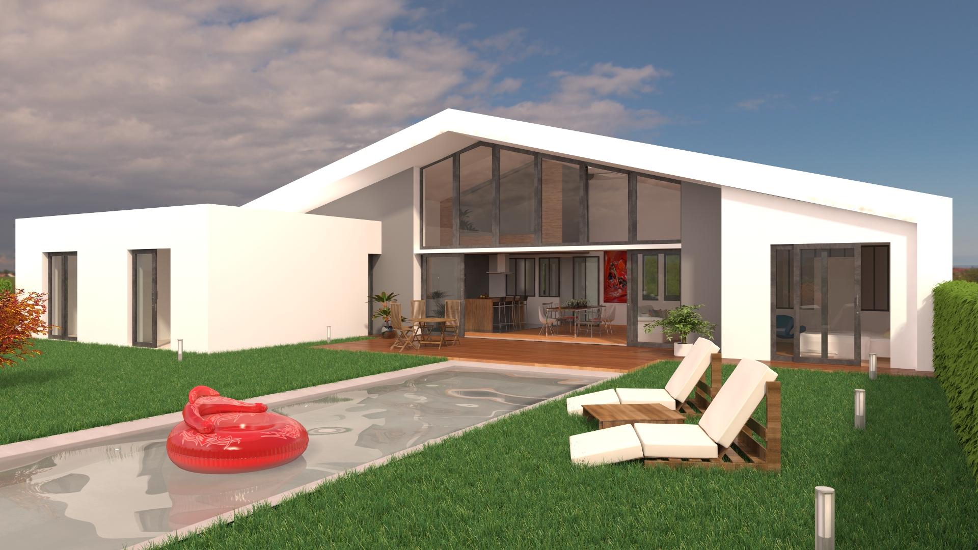 Maison architecte constructeur for Constructeur maison architecte